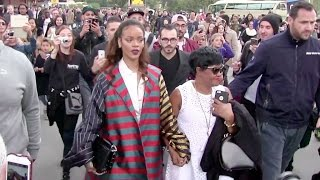 Rihanna treats her mother with a diner on the legendary Eiffel tower in Paris