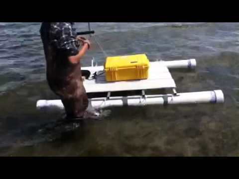 North Tahoe High School Students 2nd Generation Cataraft - flotation test