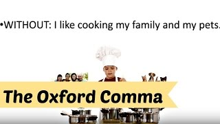 The Rules for the Oxford, or Serial, Comma in a Nutshell