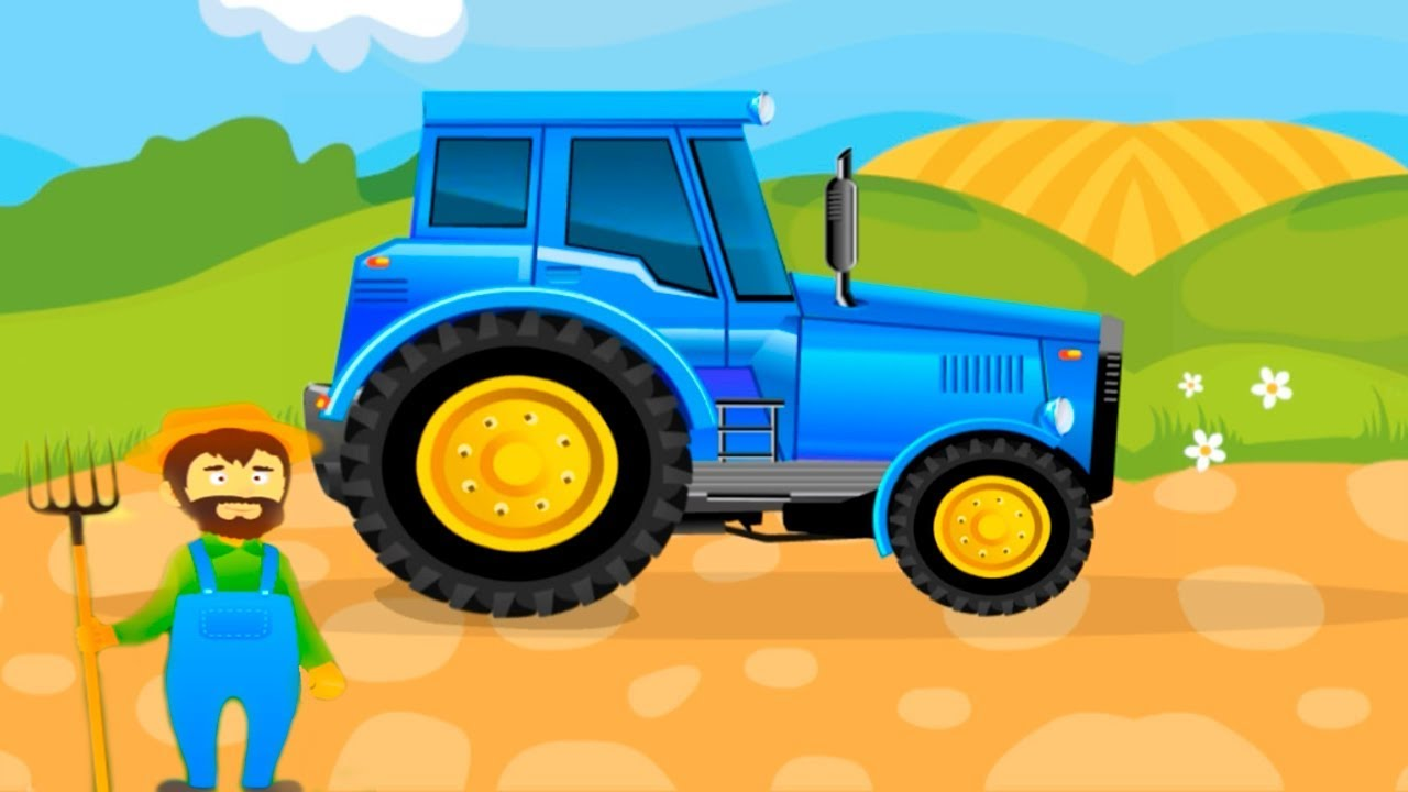 blue tractor for kids farm tractors fun baby care youtube