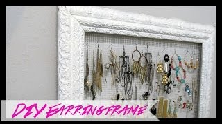 *diy* Picture Frame Earring Holder - Sugarstilettosstyle