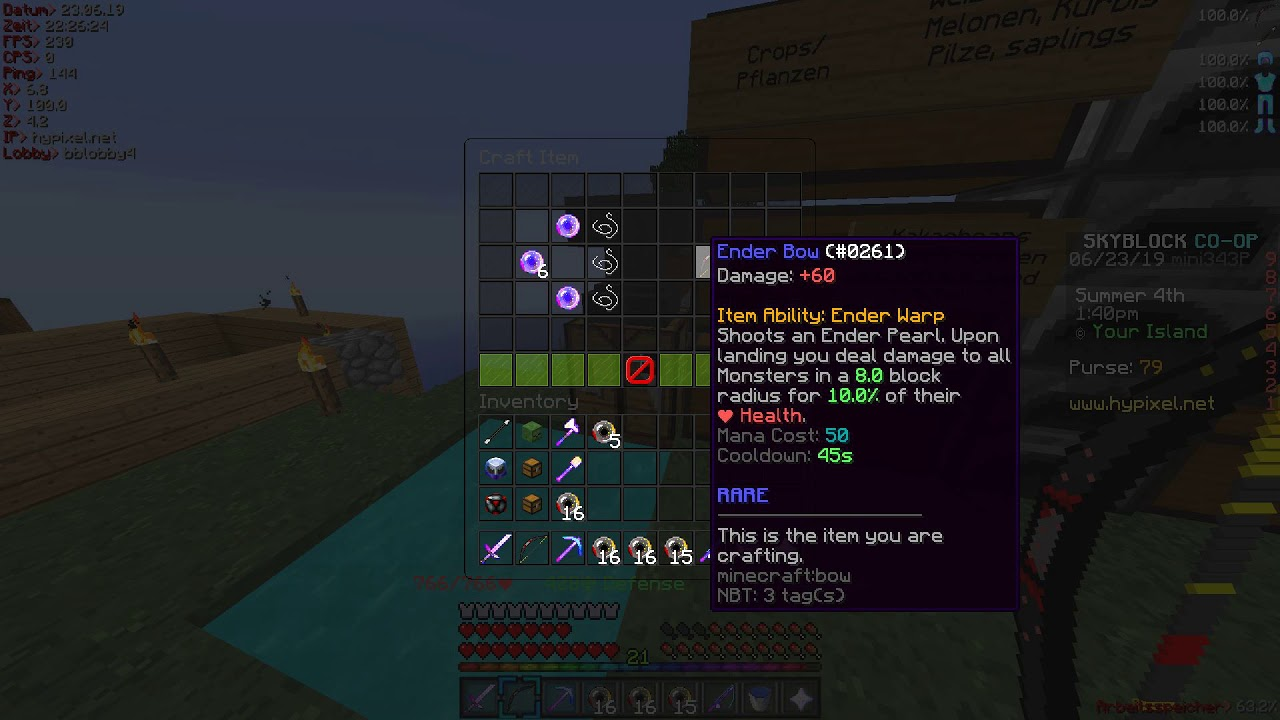 Bug Report] Ender Bow Crafting Recipe | Hypixel - Minecraft