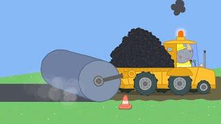 Peppa Pig Full Episodes - Mr Bull's New Road - Cartoons for Children
