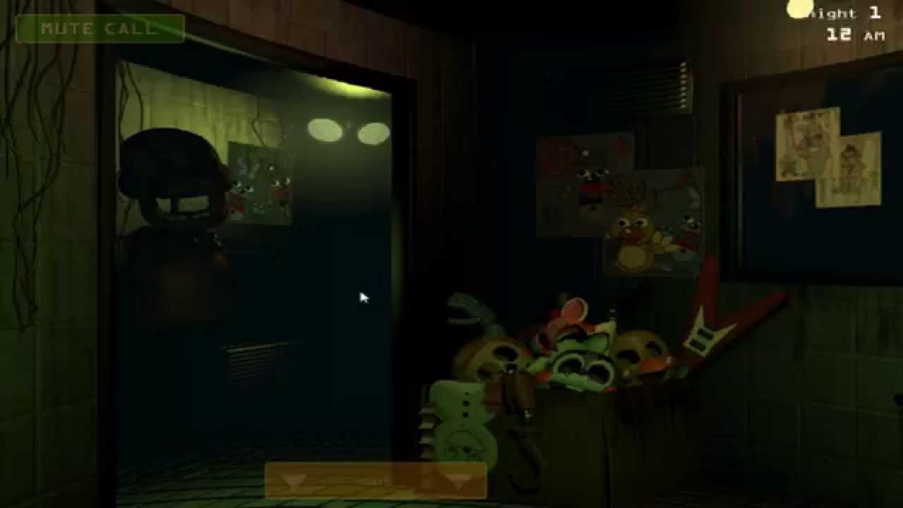 Five Nights At Freddy's 3 NIGHT 1 Gameplay - FNAF 3 Night ...  Fnaf 3 Gameplay