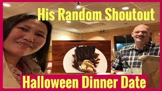 American Husband + His shoutout | Halloween Dinner
