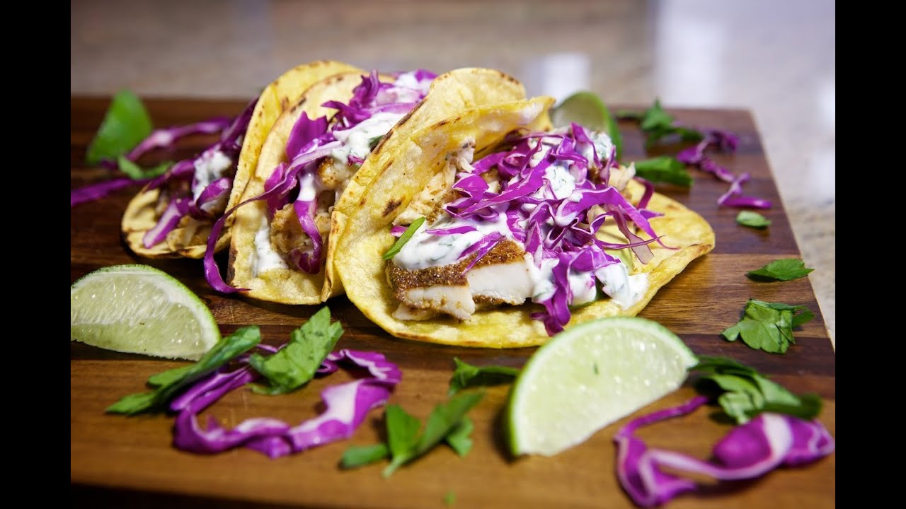 How to make fish tacos youtube for How to prepare fish tacos