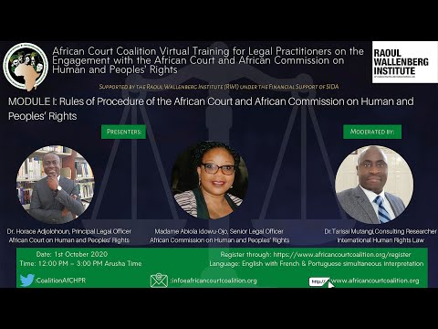 Rules of Procedures of the African Court and the African Com