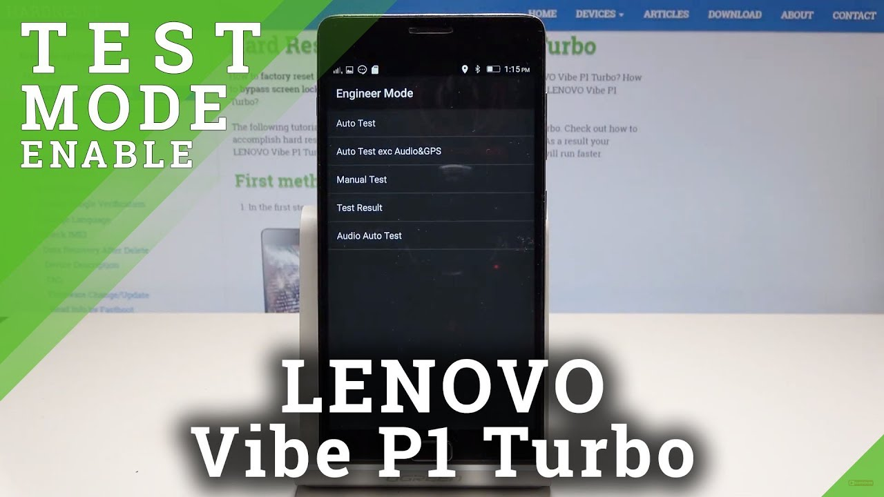 How to Boot into Service Menu in Lenovo Vibe P1 Turbo - Engineer Mode