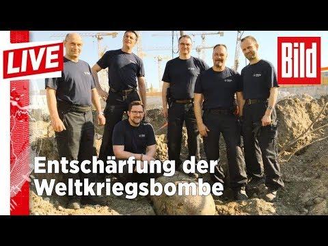 500-Kilo-Bombe legt Berlin lahm: Hier läuft die Entschärfung - BILD Live 20.04.18