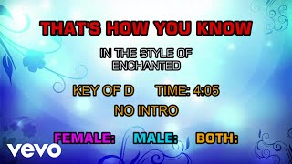 Enchanted (The Movie) - That's How You Know (Karaoke)
