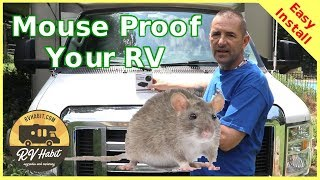Keep Rats and Mice Out of the RV Engine - Ultrasonic Under Hood Animal Repeller – Easy Install
