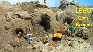 LEGO City Gold Mine. Lego Dam Breach Film.