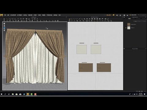 Realistic Curtain in Marvelous Designer 7 - 3dmax file download