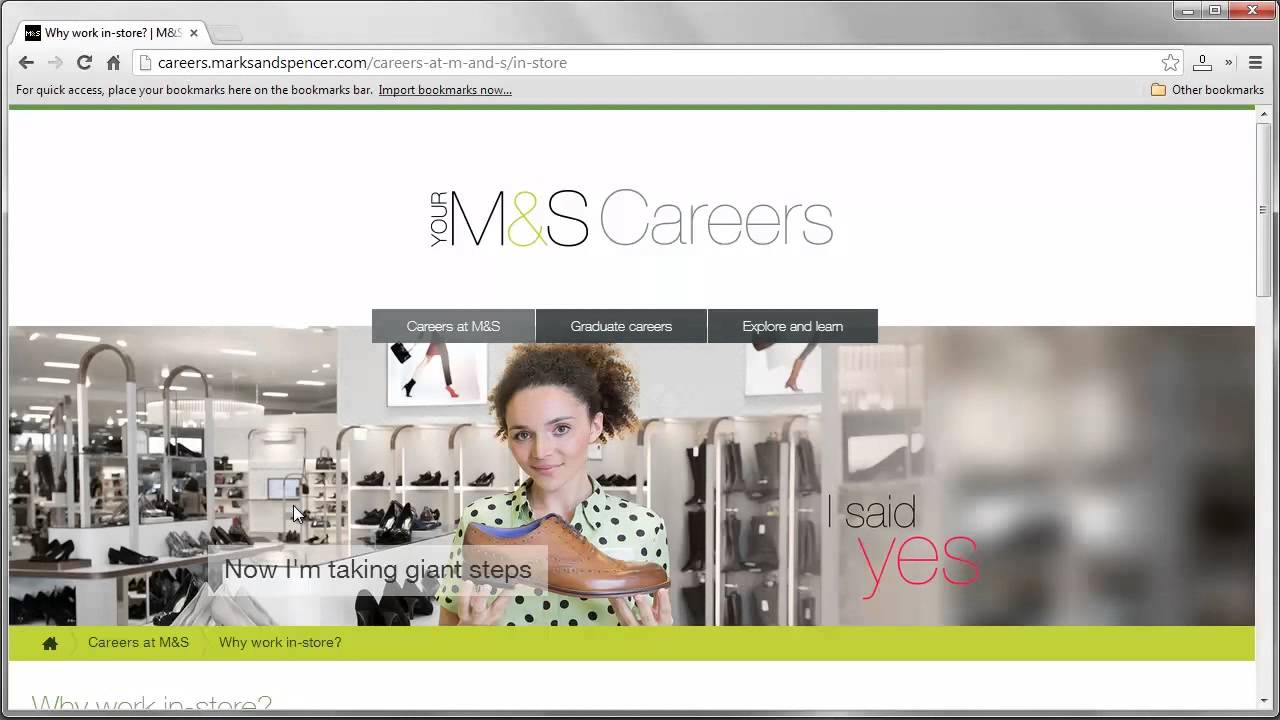 Marks & Spencer Job Application Process - YouTube