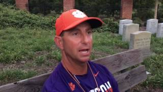Swinney talks Monday Clemson practice