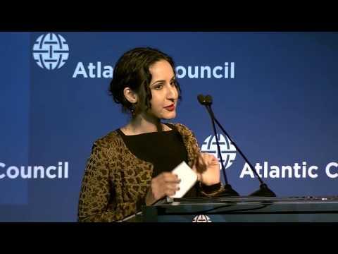 2015 Distinguished International Leadership Award: Ashraf Ghani; represented by Mariam Ghani
