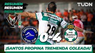 Resumen y Goles | Correcaminos 0 - 4 Santos | Copa MX - Apertura 2019  - Jornada 6 | TUDN