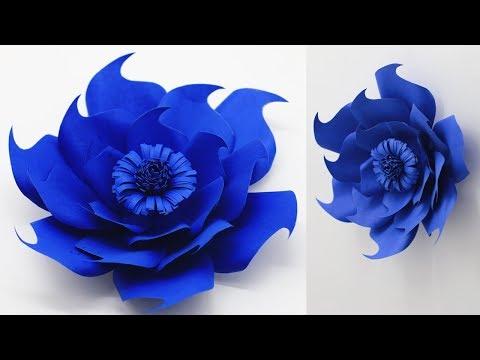 How To Make Beautiful Backdrop Flowers  -Crafts Flowers Ideas - DIY wedding decoration idea