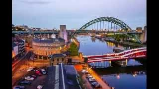 Newcastle Quayside Sunset Time Lapse