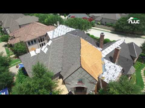 Replacing Storm Damaged Roof in McKinney, TX | GAF Woodland Shingle