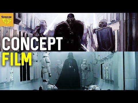Star Wars CONCEPT ART VS FILM    A New Hope