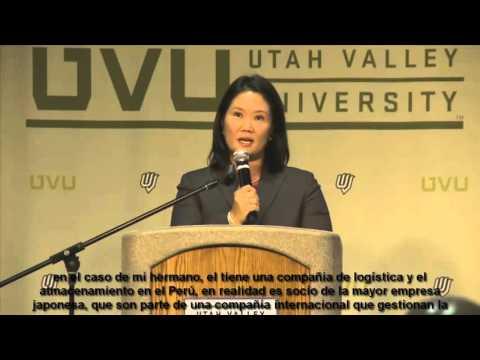 Aclaraciones de keiko ante las acusaciones en la UTAH VALLEY UNIVERSITY