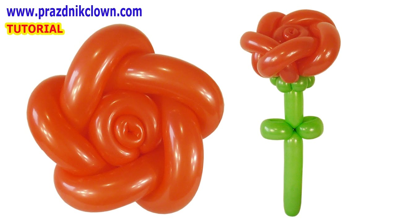 РОЗА из длинных шариков ШДМ своими руками How to Make a Balloon Rose TUTORIAL