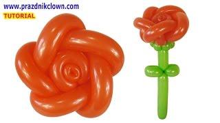 как сделать из шарика цветок розу