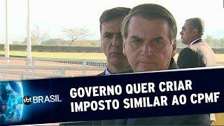 Bolsonaro diz que estuda criar de um imposto similar ao CPMF | SBT Brasil (22/08/19)