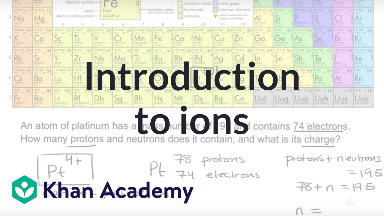 Introduction to ions (video) | Khan Academy