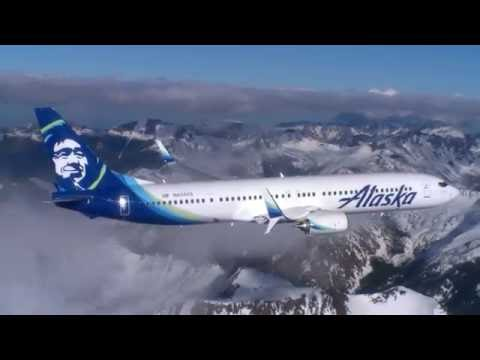 Alaska Airlines air to air footage over Washington