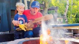 TODDLER STARTS A FIRE!