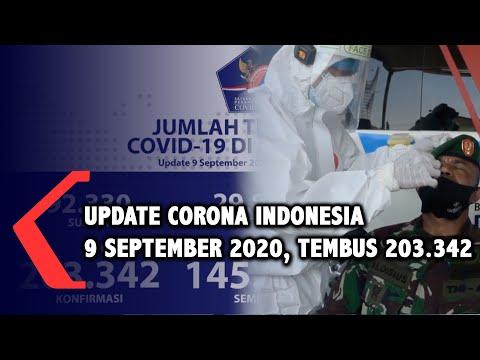 Update Corona Indonesia 9 September 2020: Tembus 203.342 Kasus Positif