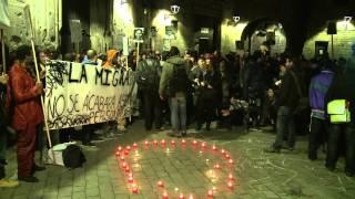 Concentració a BCN en motiu dels morts a Ceuta.