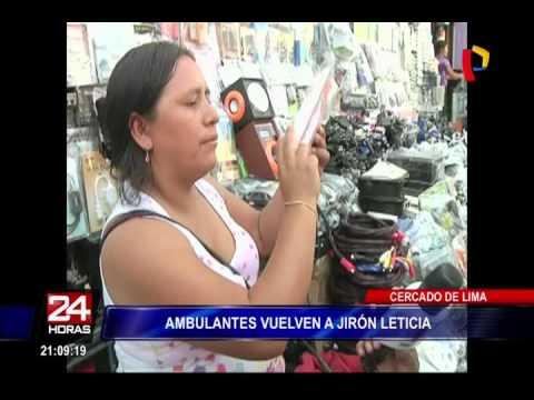 Cercado De Lima: Ambulantes Vuelven A Jirón Leticia