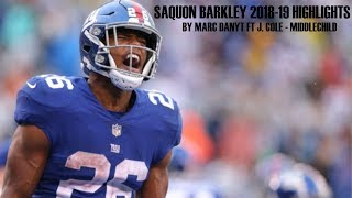 Saquon Barkley FT. J.COLE - Middlechild (2018-19 highlights)ᴴᴰ