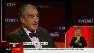 Interview ČT24 - volba prezidenta - Karel Schwarzenberg