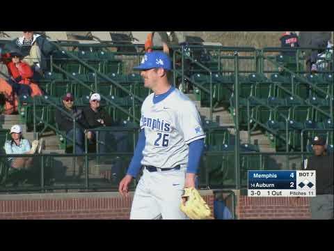 Auburn Baseball vs Memphis Highlights