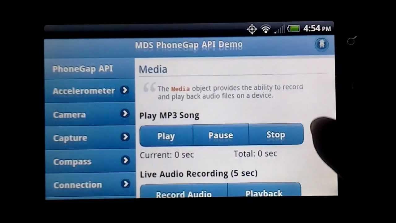 PhoneGap API Demo with jQuery Mobile