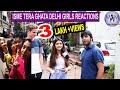 ISME TERA GHATA VIRAL GIRLS  MUSICALLY VIDEO //DELHI CUTE GIRLS REACTIONS // MadnessWithManish