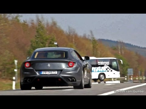 Ferrari FF - LOUD V12 Sounds on the Nurburgring!!