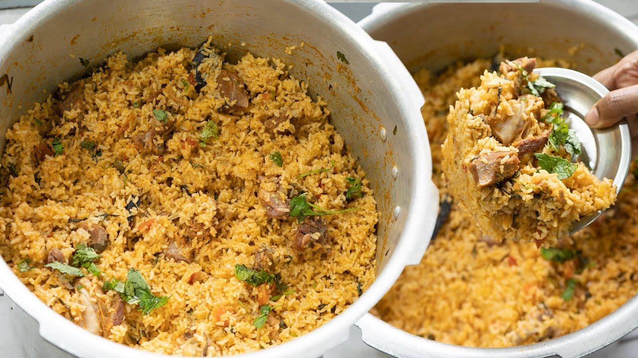 குக்கரில் ஆம்பூர் மட்டன் தம் பிரியாணி மிக சுவையாக செய்வது எப்படி   Ambur mutton biryani in cooker