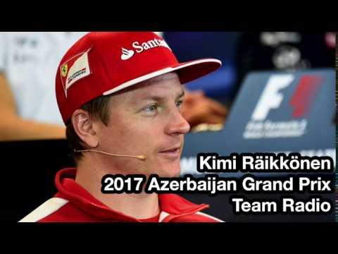 Steering Wheel - Kimi Räikkönen Team Radio Azerbaijan 2017