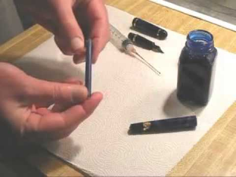 Refilling a Fountain Pen Ink Cartridge - Ink Refill Instructions
