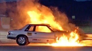FIERY Drag Racing Wreck