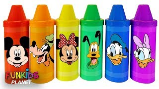Colorful Crayons & Weeble Playground Mickey Mouse Clubhouse Friends