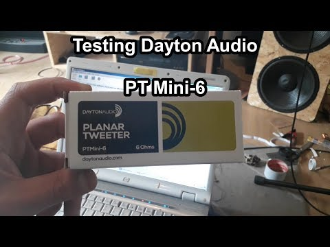 Dayton Audio PTMini 6  Planar tweeter comparison/review