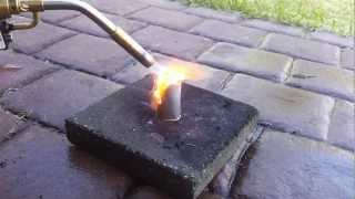 Aluminum Sheet melted with Blow Torch