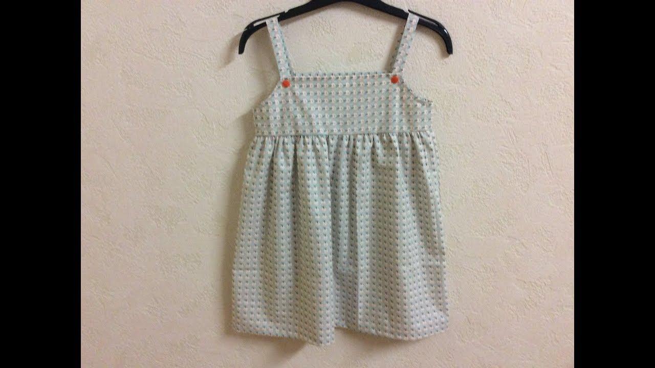 e7b4788f590ec Coudre une robe pour petite fille de 4 á 5 ans - Tuto Couture Madalena