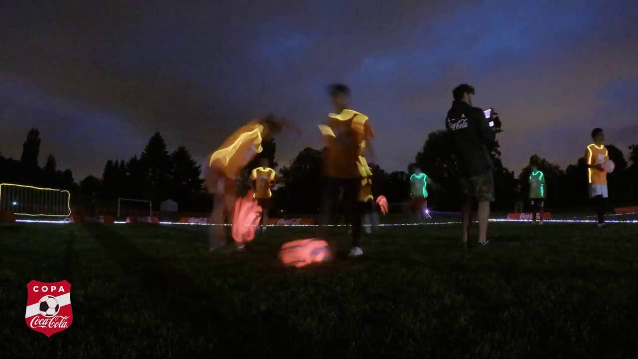 Day 3 at Camp Copa Coca-Cola 2016 - Glow In the Dark Football
